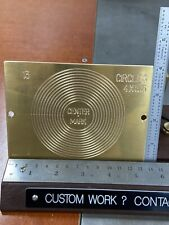 13 Circles Engineering Symbol Brass Engraving Plate For New Hermes Font Tray