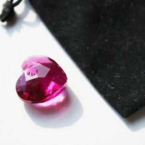 Swarovski Pink Heart Genuine Crystal Glass Pendant only