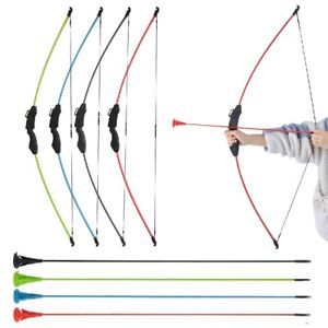 Youth Takedown Recurve Straight Bow Kit Sucker Arrows Practice Archery Game Gift