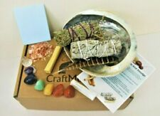 Complete Smudging Cleaning Kit Palo Santo Desert Sage Abalone