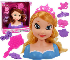 Princess Dolls Styling Head Hair Dressing Accessories Kids Girls Hairstyling Toy