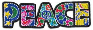 Peace Friedens-Symbol Flower Power Goa Hippe Aufnäher Aufbügler Patch Bügelbild