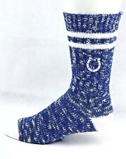 Indianapolis Colts NFL Alpine Crew Socks Blue and White Heel and Toe Logo Leg