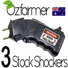 3 X Hand Prodder Battery Prod Cattle Dog Sheep Goats Beef Cows Electric Shock