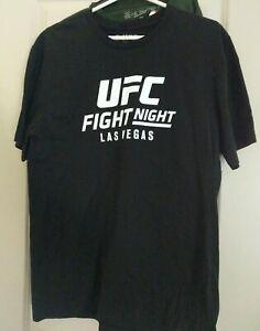 NEW Las Vegas UFC BARAO , Stephens Adult Mens Unisex Sizes L  Black Reebok Shirt