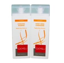 GKMBJ Hydrating Shampoo & Honey Creme Conditioner 250ml - Replenishes Moisture