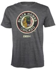 Chicago Blackhawks Retro Vintage Logo CCM Distressed Premium Tri-Blend T-Shirt
