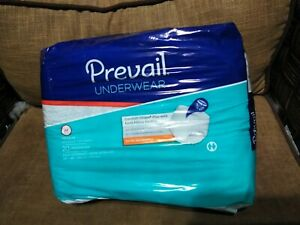 Prevail Per-Fit Adult Underwear, MEDIUM, Heavy Abs. Pull On - 20 Count NEW