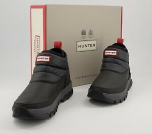 Hunter Original Insulated Snow Ankle Boots Black, Size UK4 EU37, BNWT