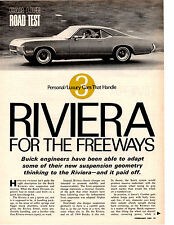 1969 BUICK RIVIERA 430/360 HP ~ ORIGINAL 5-PAGE ROAD TEST / ARTICLE / AD