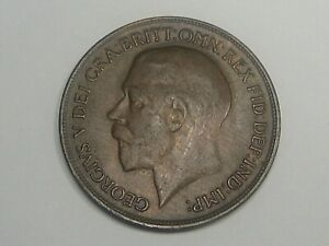 XF 1918-H ONE PENNY Great Britain George V.  #53