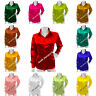 Satin long Sleeve Shirt shirt / Blouse Top For Girls Puff Shoulder design  S81