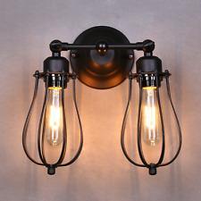 Vintage E27 Eisen Industrielampe Wandlampe Wandleuchte 2 Lampen Doppeltes Licht