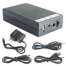 3in1 12.6V to DC 5V/9V/12V Rechargeable Li-ion Battery Pack Brick Black +Adapter