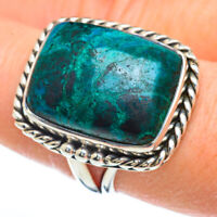 Chrysocolla 925 Sterling Silver Ring Size 8.5 Ana Co Jewelry R44932F