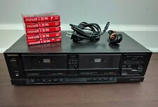 Technics Stereo Double Cassette Deck RS-T11 Tested w/ 5 Tapes for Mix Tapes