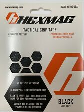 Hexmag Tactical Grip Tape, black, 46 pre-cut hexagons. X001Y7Ruxt