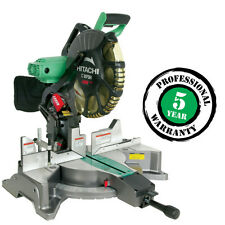 "Hitachi 12"" Dual Bevel Miter Saw with Laser Guide C12FDH BRAND NEW"