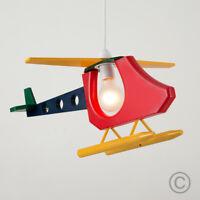 Childrens Bedroom Nursery Multi Coloured Helicopter Ceiling Pendant Light Shade