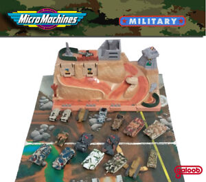 Micro Machines Military Army Bunker Battle Fortress & Tanks lot 1990 Galoob