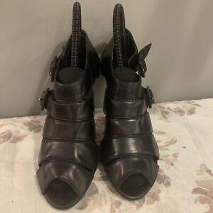 Franco Sarto Women's Black Shoes Strappy High Heel Size 6.5
