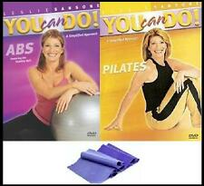 Leslie Sansone You Can Do Abs / Pilates (2-Pack) + Resistance BAND +FREE Bonuses