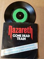 "Nazareth Gone Dead Train Vinyl 7"" Single 45 RPM-3 Tracks-Rock-UK 1983"
