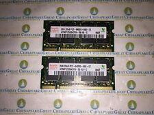 Lot of 2 Hynix HYMP125S64CP8-S6 4GB Total (2GBx2) PC2-6400 SODIMM PC2-6400 DDR2