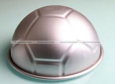 "Soccer Ball Aluminium Cake Cupcake Mold Pan Sport Decorating 8"" Half Ball Mold"