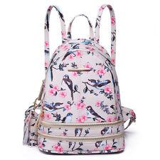 Ladies Girls Small Plain PU Leather Backpack School Shoulder Bag Travel Rucksack