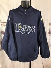 Vintage Majestic Tampa Bay Rays Baseball Pullover XL Performance Apparel Lined