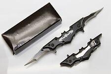 Mini BATMAN Dark Knight Spring Assisted Dual Blade Folding Pocket Knife Tactical
