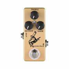 Mosky Golden Horse Guitar Overdrive Boost Effect Pedal Mini Size 3 Button