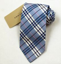 "NEW Burberry BLUE Plaids Mans 100% Silk Tie Authentic Italy Made 3.5"" 035044"