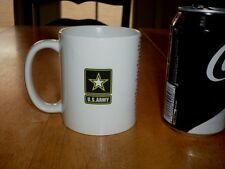 "U.S. ARMY LOGO & ""GREEN BERET"" SONG LYRIC, Ceramic Coffee Cup / Mug, Vintage"