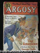 Argosy February 27, 1937 Woolrich Cvr story, Max Brand