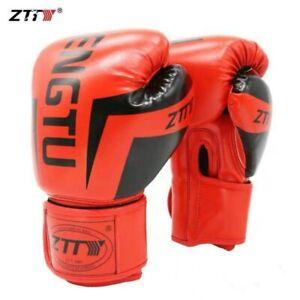 ZTTY Kick Boxing Gloves For Men&Women PU Karate Muay Thai Guantes De Boxeo Free