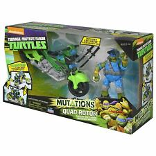 Teenage Mutant Ninja Turtles Mutating Quad Rotor Vehicle with Leonardo Vehicle