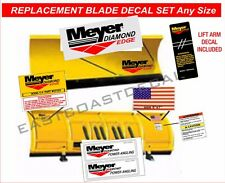 DIAMOND Edge Meyer Snow Plow Decals  7pc Kit Decal Replacement Set ANY SIZE