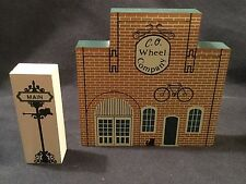"1988 The Cat's Meow Tradesman Series C.O. Wheel Company Street Sign ""Faline '93"""