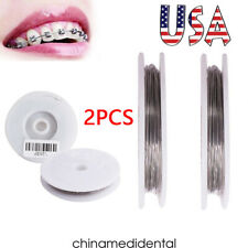 2rolls Dental Surgical Orthodontic Ligature Wire 02mm Round Stainless Steel Fda