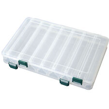 Double Sided Lure Case/Box - Hard Plug Bait Bass Pike -3 SIZES- 14 Compartments