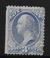 US Scott #O37, Single 1873 Official 3c AVG MNG