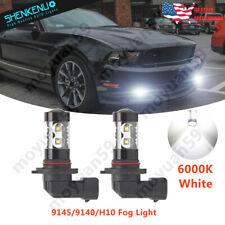 Cree Led H10 9145 White 6000k Led Fog Light Bulb For Ford Mustang Gt 2005 2012