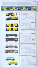 6x Marklin AC HO GM EMD F7 CANADA ALASKA 3-UNIT DIESEL LOCOMOTIVE MIB Full Set!!