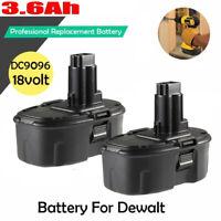 2 Pack 18 Volt XRP Battery Pack For DeWALT DC9096-2 DC9099 DW9095 DW9096 NICD US