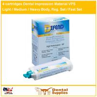 4 cartridges Dental Impression Material HEAVY BODY Fast Set