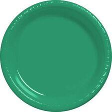 20 assiettes plates en plastique vert Ø 23 cm [05046vert] decor de table fetes