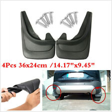 Black 4pc Universal Splash Guards For Car Pickup SUV Mudflaps Mud Flaps Mudguard