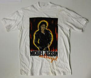 MICHAEL JACKSON In Brazil 1993 DANGEROUS World Tour CONCERT T-SHIRT UNUSED #1